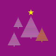 weihnachtsbaum illustration violett