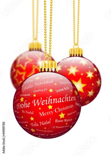 frohe weihnachten weihnachtskugel deko christbaumschmuck rot stockfotos und lizenzfreie. Black Bedroom Furniture Sets. Home Design Ideas