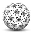 Kugel, Schneeflocken, Flocken, Schnee, Symbol, Zeichen, Vektor