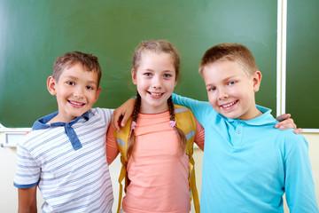 Adorable schoolmates
