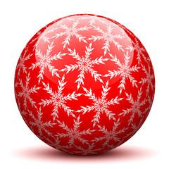 Kugel, Schneekristall, Rot, abstrakt, Flocken, Weihnachtskugel