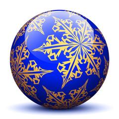 Kugel, Dekoration, Designelement, Blau, Dunkelblau, Weihnachten