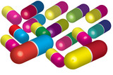 colorful pills Vector