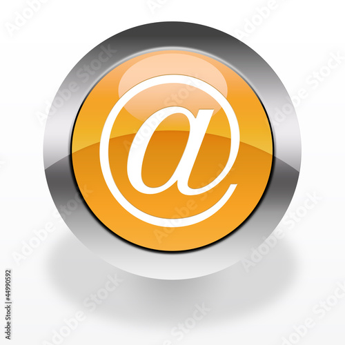 E-mail glossy icon / orange