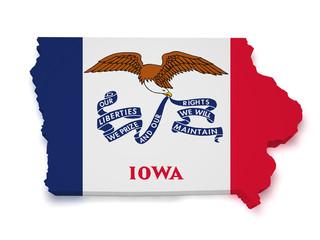 Iowa Map 3d Shape