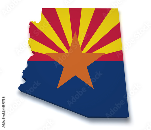 Arizona Map 3d Shape
