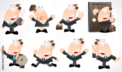 Businessman Vector Characters