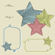 Background with decorative ornate stars. Vector illustration.