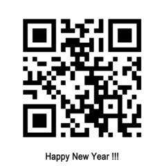 qr happy new year
