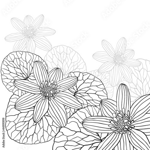 Abstract flowers background with place for your text © incomible