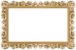 Cadre baroque rectangulaire doré - 44993372