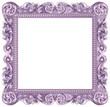 Cadre baroque carré violet