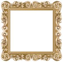 Cadre baroque carré doré