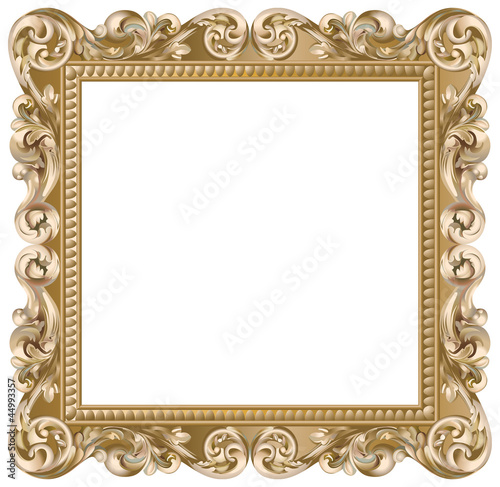 cadre baroque carr dor fichier vectoriel libre de droits sur la banque d 39 images. Black Bedroom Furniture Sets. Home Design Ideas