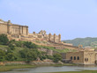 Amber Fort near Jaipur, overlooking Maota lake,India