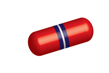 Pill vector - white, blue and red