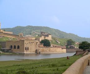Amber Fort near Jaipur, overlooking Maota lake,India