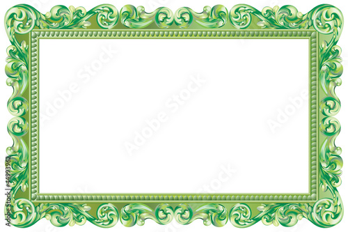 papier peint cadre baroque rectangulaire vert cadre. Black Bedroom Furniture Sets. Home Design Ideas