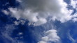 multilayer clouds in sky on day timelapse