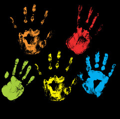 Handprints Vectors