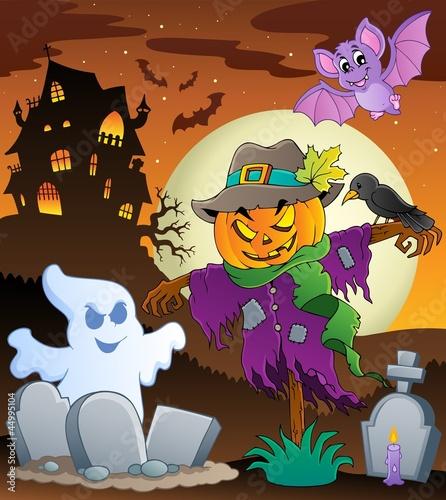 Halloween scarecrow theme image 3