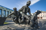 Warsaw Uprising Monument in Warsaw - closeup - 44995500