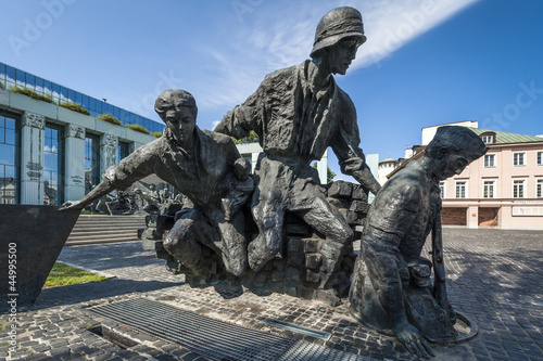 Warsaw Uprising Monument in Warsaw - closeup