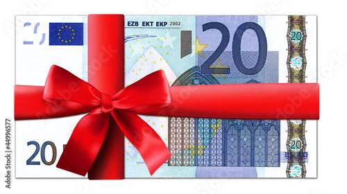 20 Euro Schein mit roter Schleife