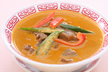 Thai Food Red Curry Beef