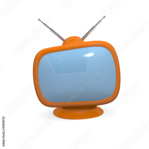 Retro television, 3d technology concept