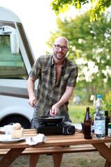 Essen auf dem Campingplatz