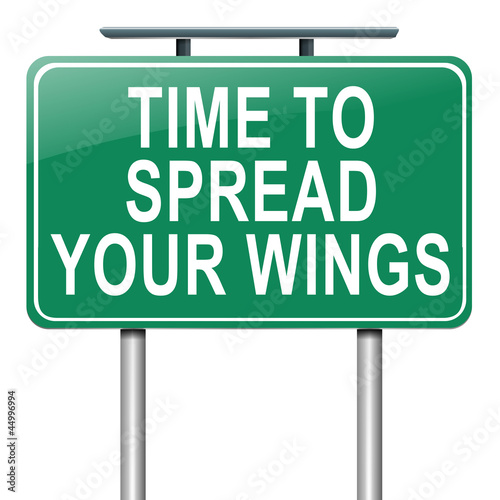 Spread your wings.