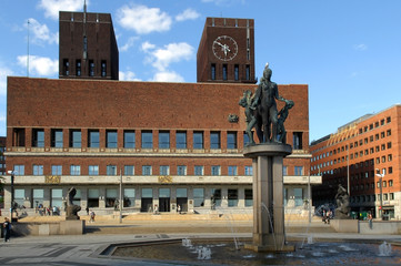 City Hall in central Oslo Norway