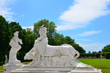Statue in the electoral palace's garden of Trier, Germany
