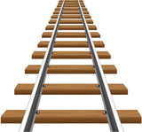 rails with wooden sleepers vector illustration