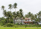 A traditional house in the tourist destination Goa, India