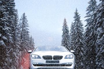 Auto im Winterverkehr