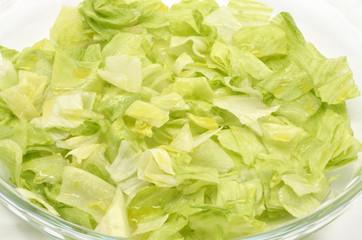 cut fresh lettuce