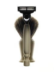shaver and brush - rasoio con pennello