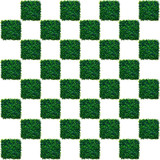 Artificial Grass Chess board poster