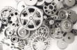 Leinwandbild Motiv old rusty gears