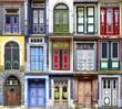 Collage of the Goslar doors.