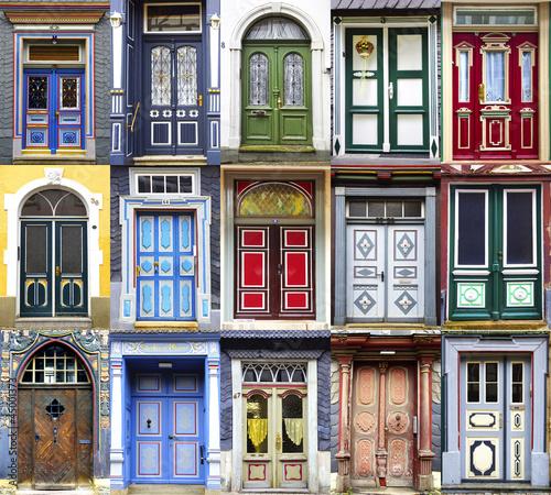 Fototapeta Collage of the Goslar doors.