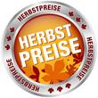 """Button """"Herbstpreise"""" rot/braun/silber"""