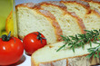 Bread with oil, tomato and rosemary