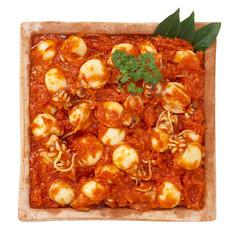 Seppioline con salsa di pomodoro