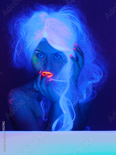 Fairy tale portrait in uv light