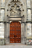 The entrance to the Dom Church in Utrecht.Netherlands