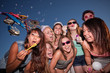 Teen Girls Blowing Bubbles