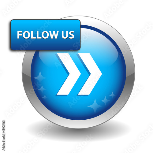 FOLLOW US Web Button (become a fan social media marketing like)